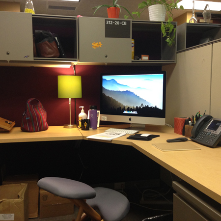 Decorating a cubicle | www.risingshining.com