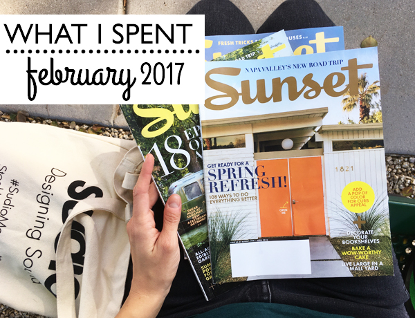 What I spent in February 2017 | RISING*SHINING