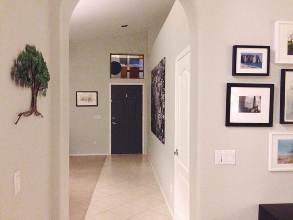 Love our dark grey front door | RISING*SHINING