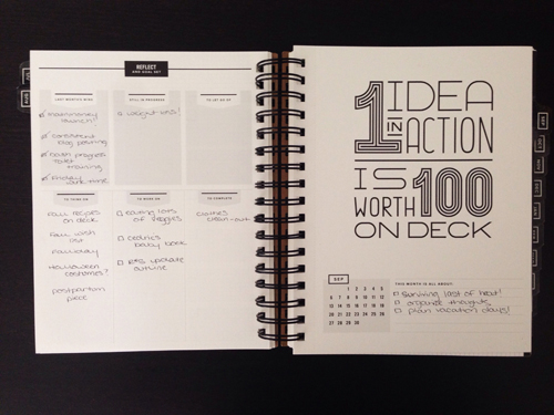 How I'm using (and loving) the GET TO WORK BOOK day planner
