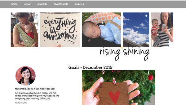 Site design update | RISING*SHINING