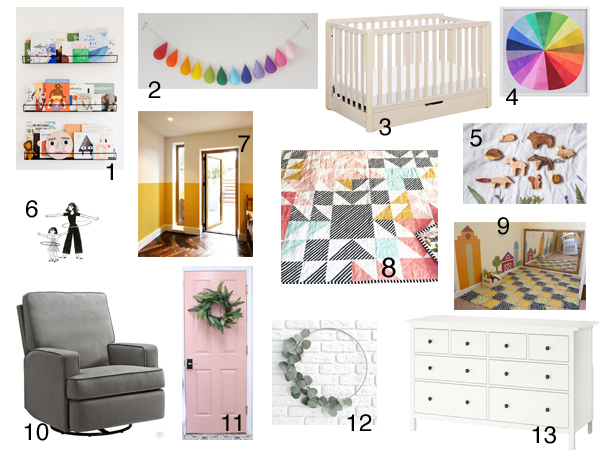 Planning a simple + colorful nursery | RISING*SHINING
